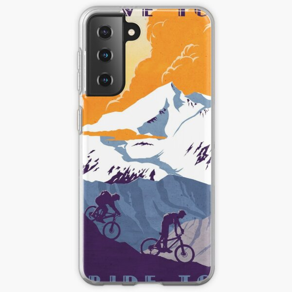 Live to Ride, Ride to Live retro cycling poster Samsung Galaxy Soft Case