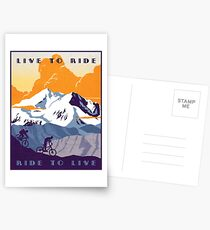 Live to Ride, Ride to Live retro cycling poster Postcards