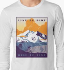Live to Ride, Ride to Live retro cycling poster Long Sleeve T-Shirt
