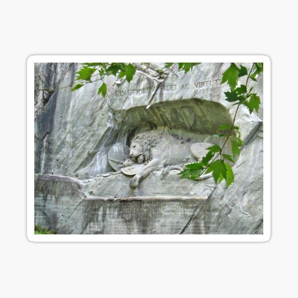 Lion of Lucerne Sticker