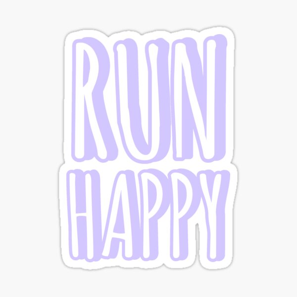 Run Happy purple pastel sticker Sticker