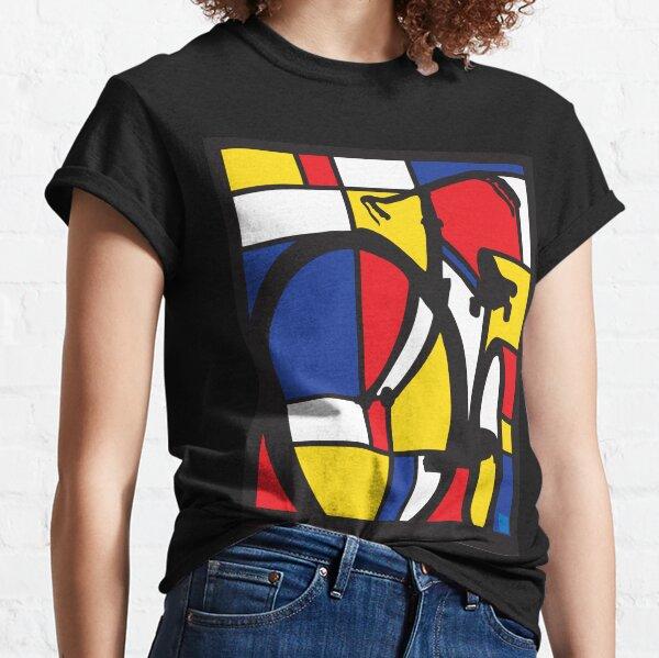 Mondrian Bicycle art Classic T-Shirt