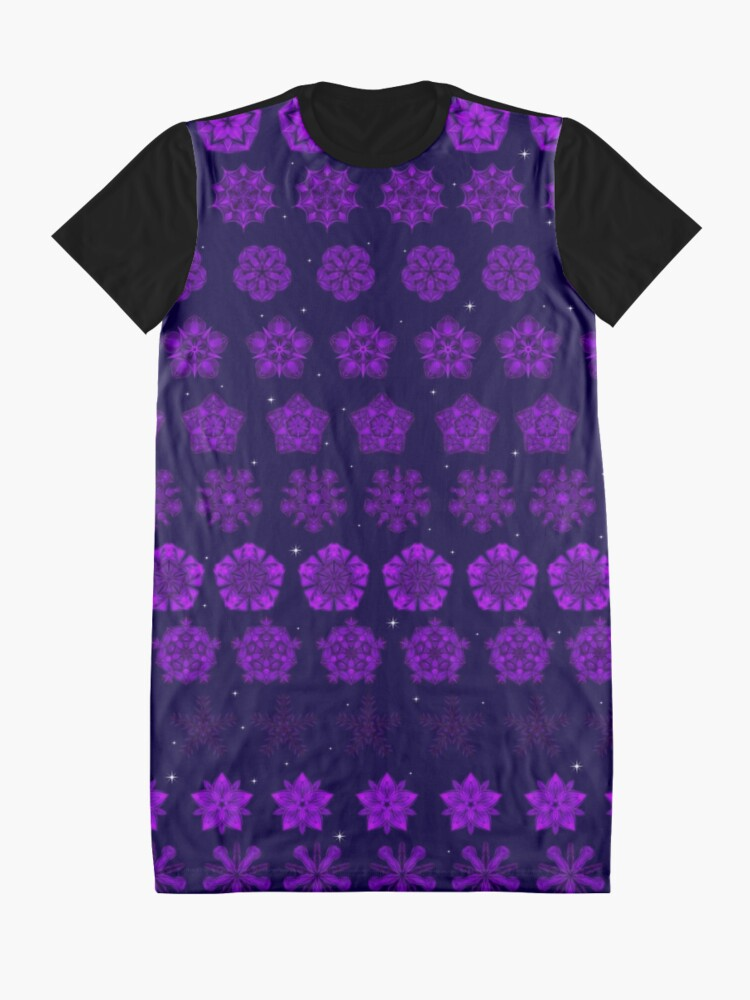 Alternate view of Amethyst in the Sparkling Sea Graphic T-Shirt Dress