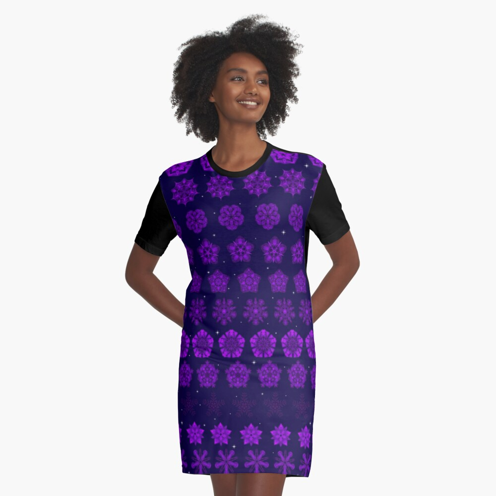 Amethyst in the Sparkling Sea Graphic T-Shirt Dress