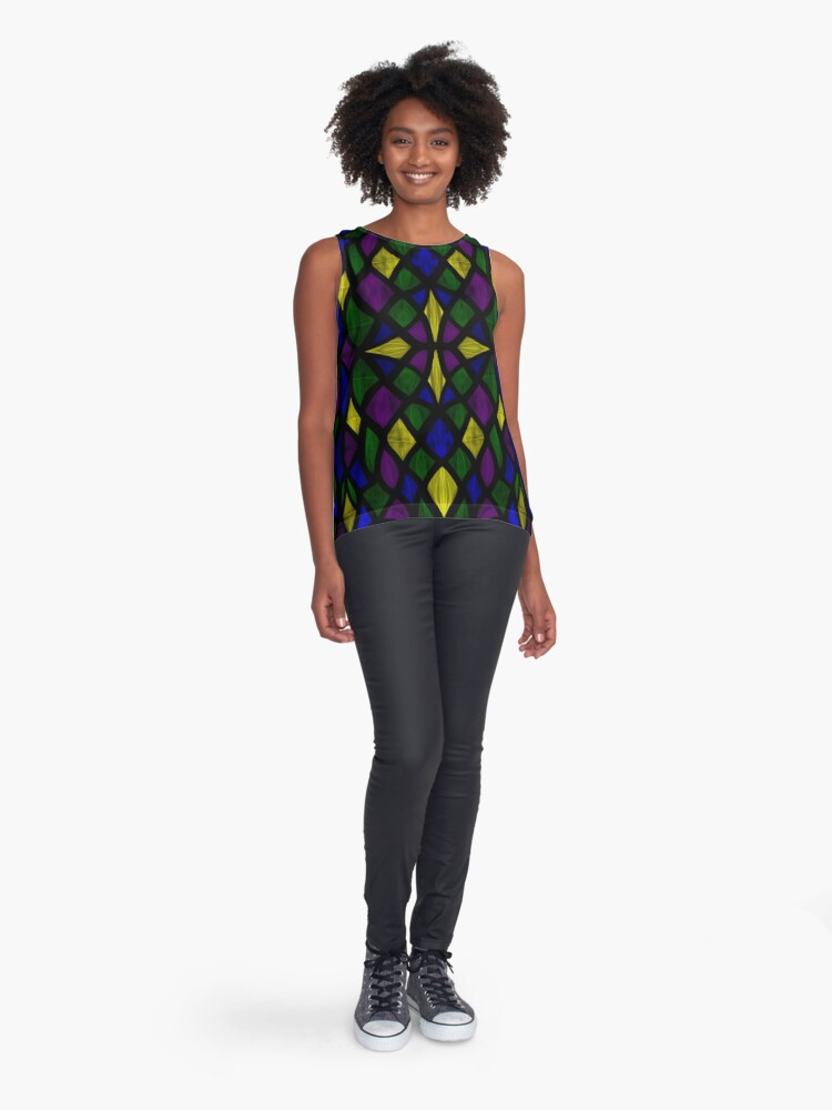 Alternate view of Stained Glass Scales Sleeveless Top