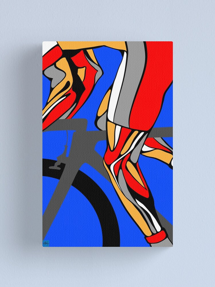 Alternate view of Tour De France Legs Canvas Print