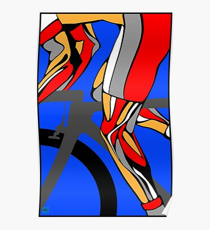 Tour De France Legs Poster