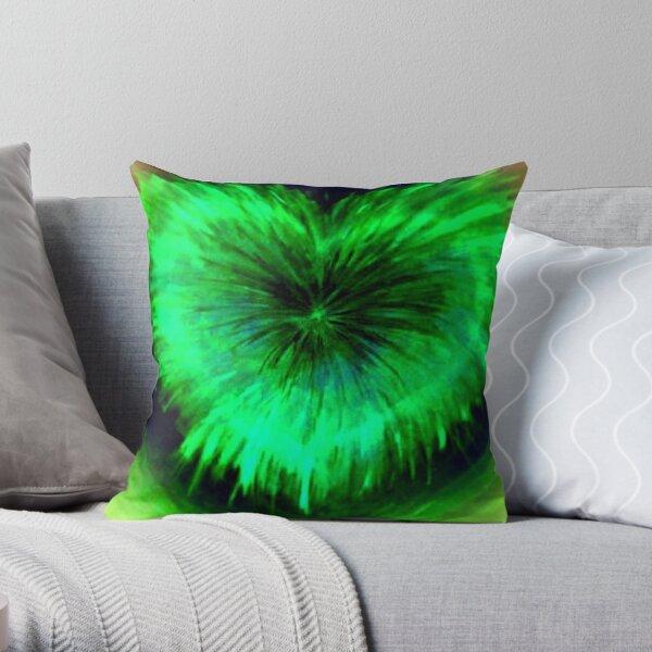 Purifying The Heart (Green) Throw Pillow