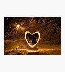 Burning Heart Photographic Print