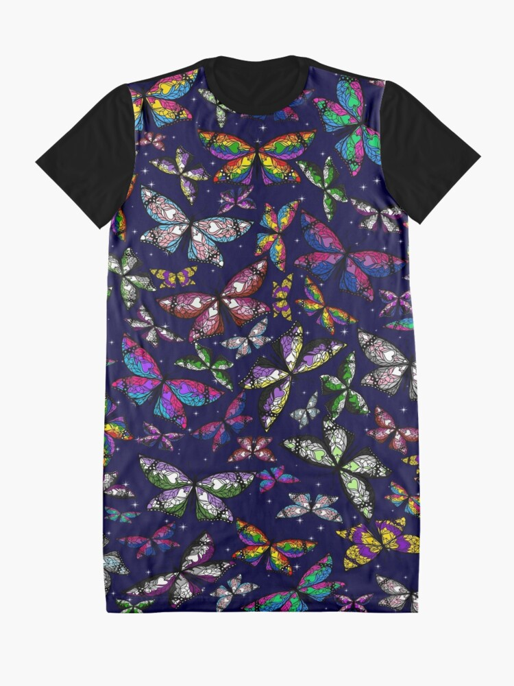 Alternate view of Fly With Pride: Butterfly Bonanza Graphic T-Shirt Dress