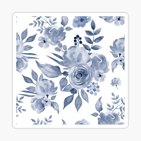 Hamptons Style Floral Design Sticker