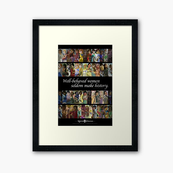 Rejected Princesses 1 Year Anniversary Poster Framed Art Print