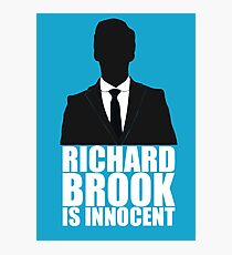 Richard Brook is Innocent Photographic Print