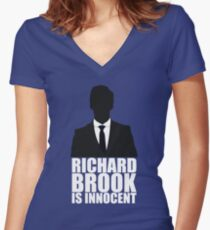Richard Brook is Innocent Women's Fitted V-Neck T-Shirt