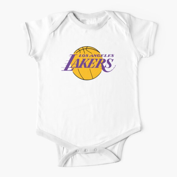 lakers-angeles Short Sleeve Baby One-Piece