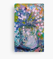 White Flower Abstract Canvas Print