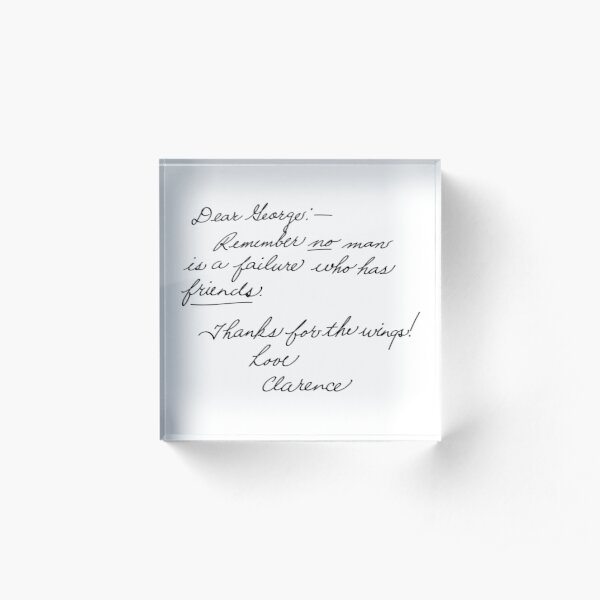 It's a Wonderful Life - Clarence Acrylic Block
