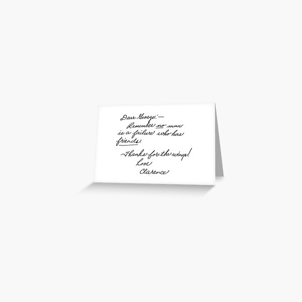 It's a Wonderful Life - Clarence Greeting Card