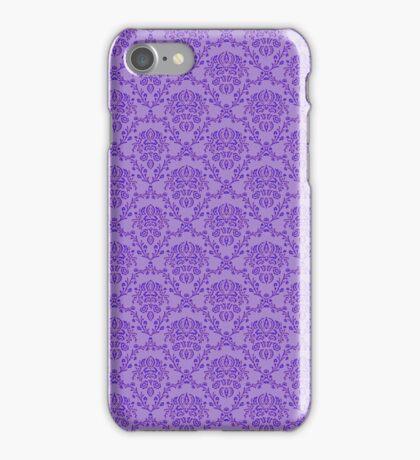 vintage purple pattern iPhone Case/Skin