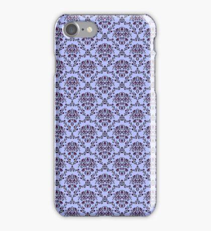 vintage blue pattern iPhone Case/Skin
