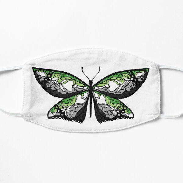 Fly With Pride: Aromantic Flag Butterfly Mask