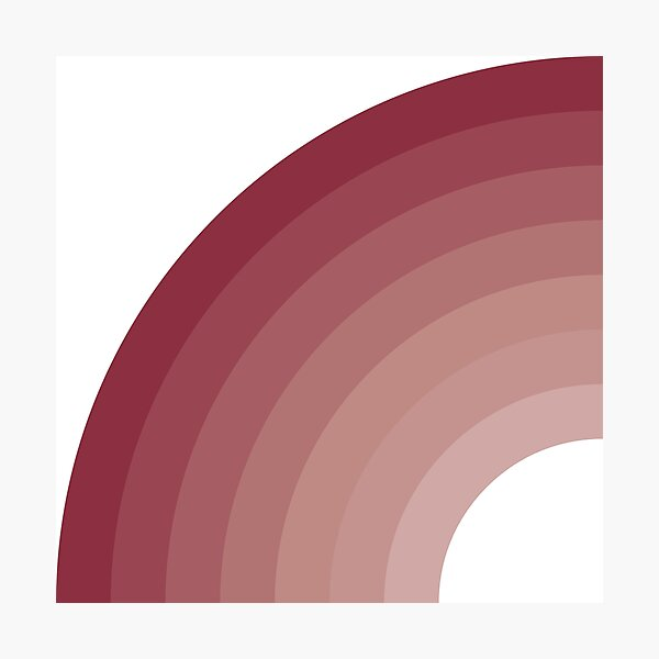 Solid curved gradient Photographic Print