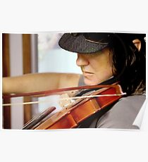 Tania Rose on Violin Poster