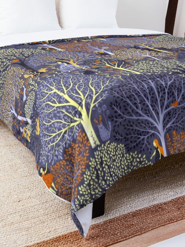 Alternate view of Magical Forest in blue Comforter