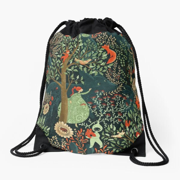 Whimsical Wonderland Drawstring Bag