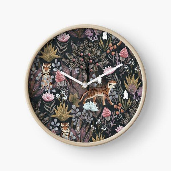 Moody jungle Clock