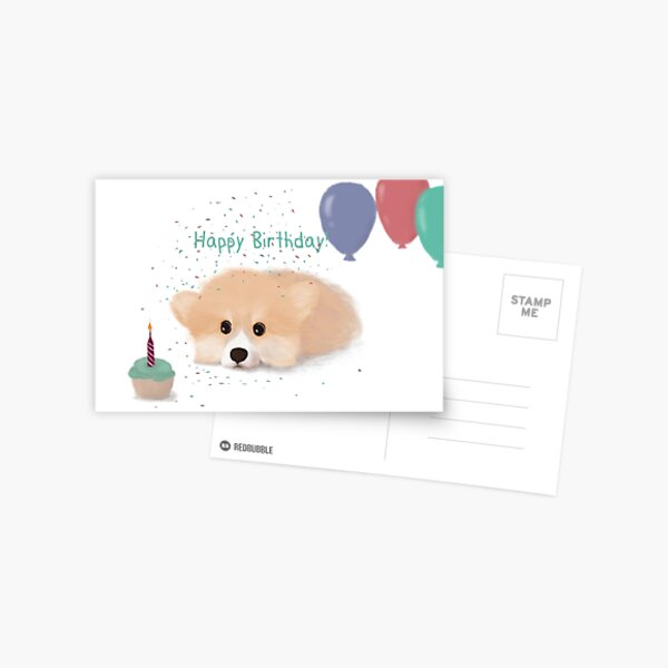 Happy Birthday Corgi Postcard