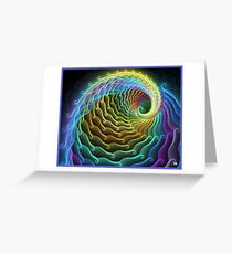 NEWTONS WAVE Greeting Card