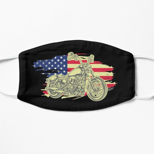 Retro Vintage Motorcycle | I love my Motorcycle USA Flag  Mask