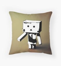 Danbo- Is this real coz i feel fake Throw Pillow