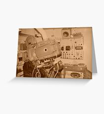 old carbon arc 35mm projector Greeting Card