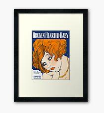 BROKEN HEARTED BABY (vintage illustration) Framed Print