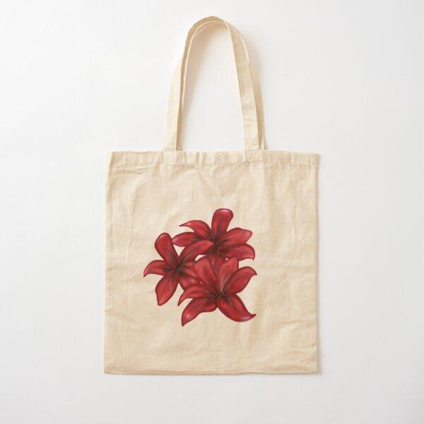 Rote Blüten / rote Blumen Baumwolltasche