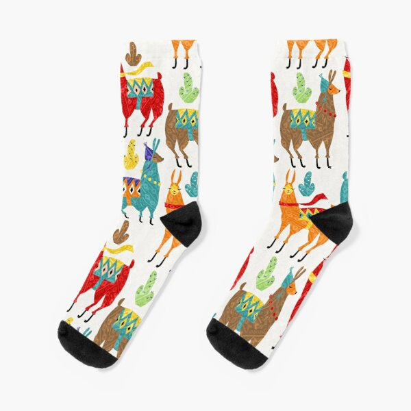 color llamas Socks