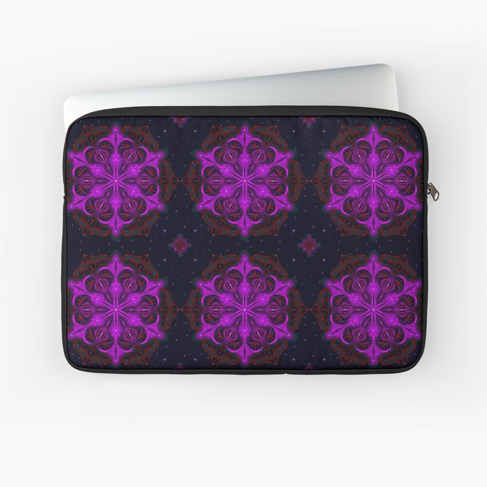 Spaceborne Orchid Snowflake Laptop Sleeve