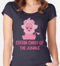 Cotton Candy of the Jungle Women's Fitted Scoop T-Shirt