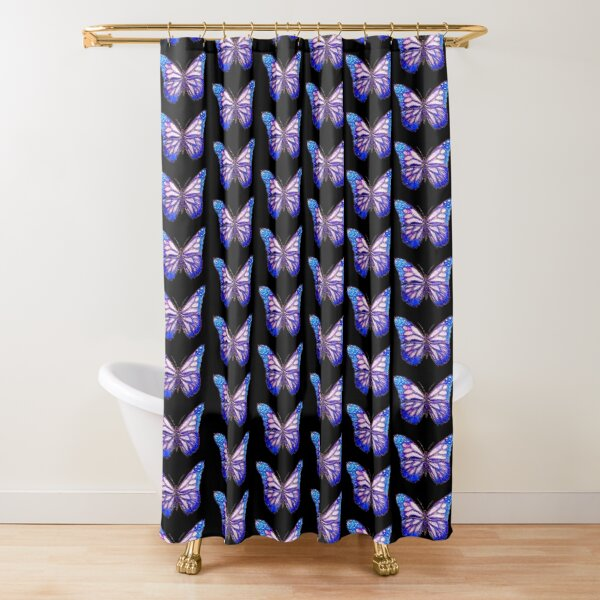 Crystal Butterfly Shower Curtain