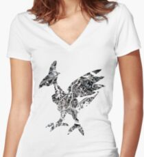 Skarmory used steel wing Women's Fitted V-Neck T-Shirt