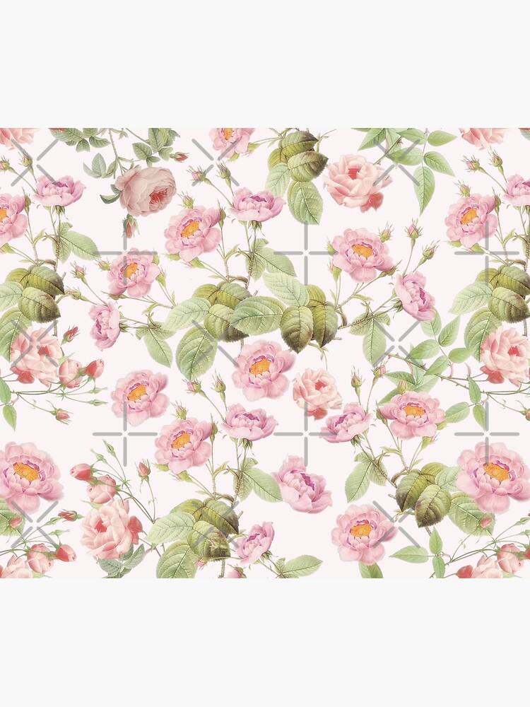 Old Vintage Roses on Pink Pattern  by UtArt