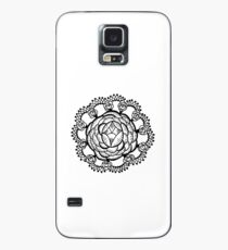 Art Deco Floral Mandala Case/Skin for Samsung Galaxy