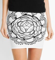 Art Deco Floral Mandala Mini Skirt