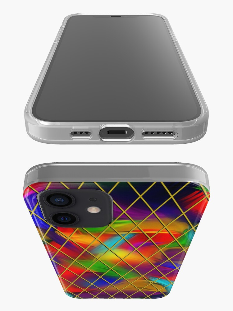 Alternate view of Golden Diamonds, Rainbow Void iPhone Case & Cover