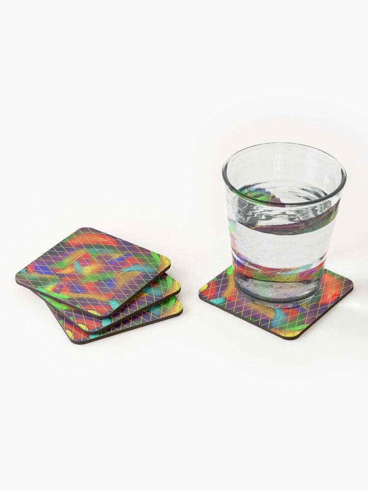 Alternate view of Golden Diamonds, Rainbow Void Coasters (Set of 4)