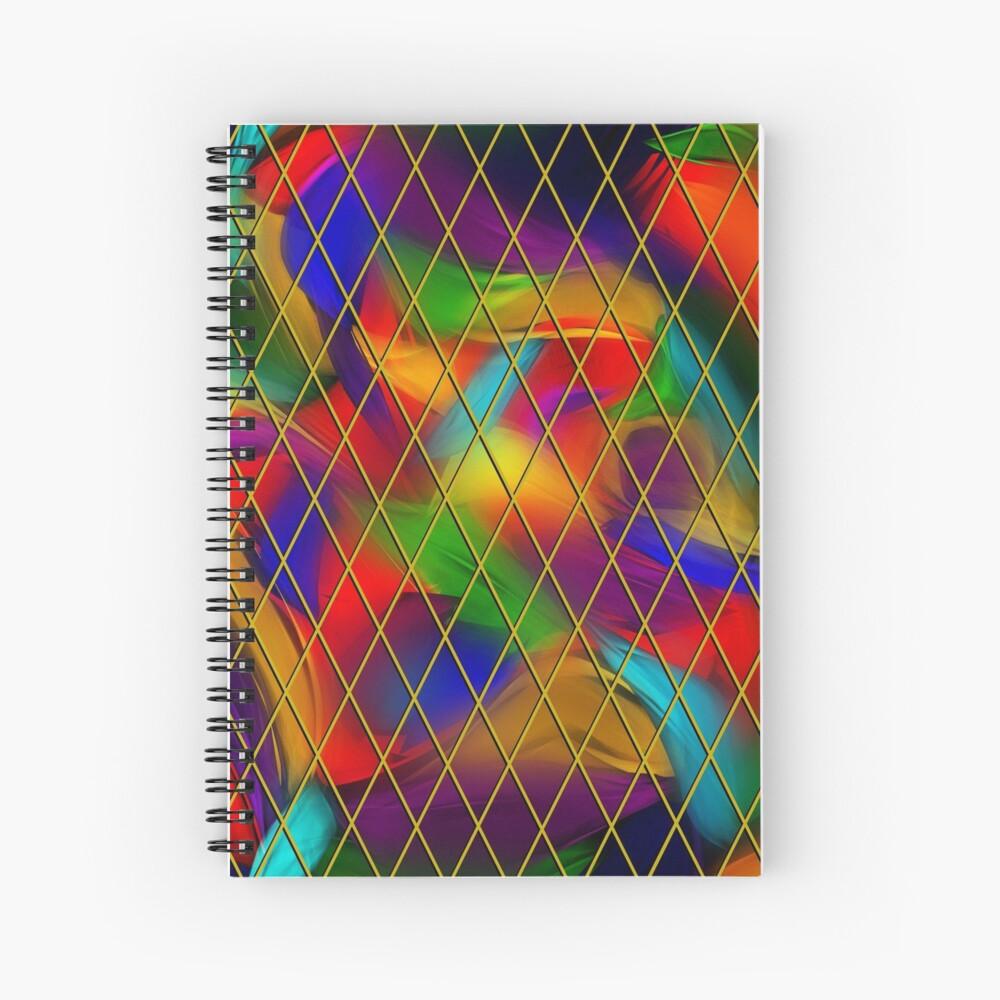Golden Diamonds, Rainbow Void Spiral Notebook