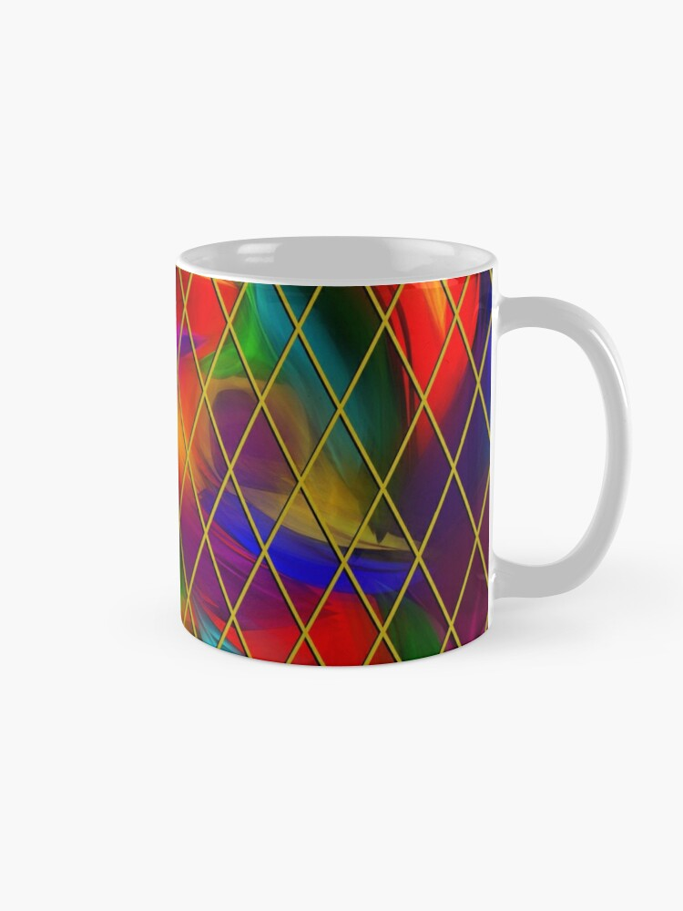 Alternate view of Golden Diamonds, Rainbow Void Mug