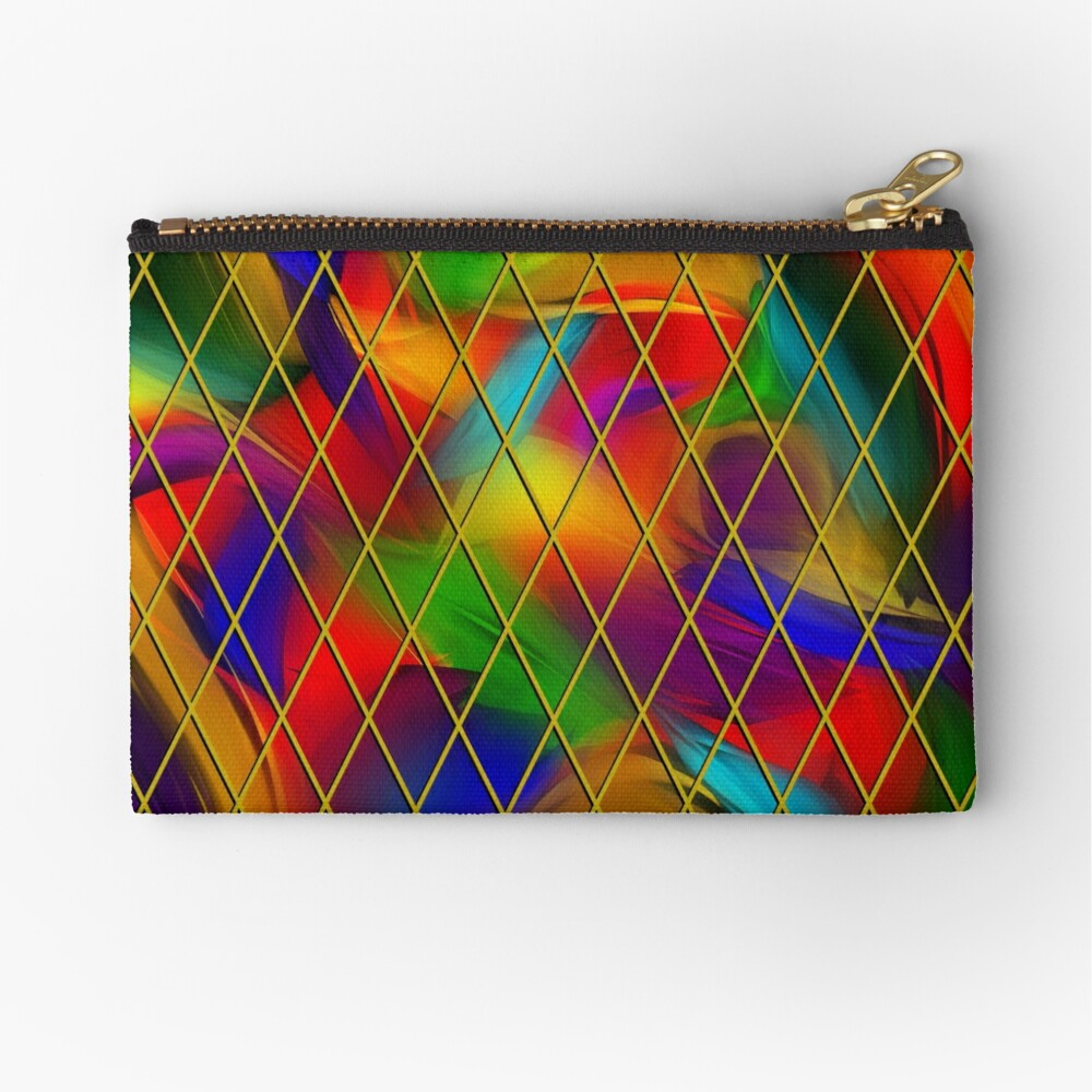 Golden Diamonds, Rainbow Void Zipper Pouch